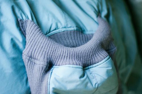 Top of babywearing coat...