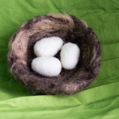 Needle Felted Nest and Eggs