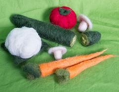 Needle Felted Vegetable Set