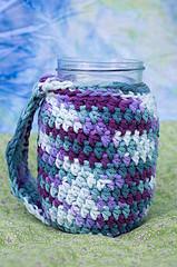Crocheted jar mug covers