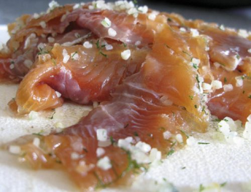 Salt Cured Salmon…